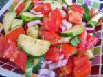 American Tomato Cucumber and Red Onion Salad Appetizer