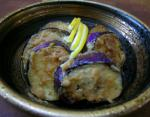 American Grilled Eggplant with Spicy Peanut Sauce Appetizer