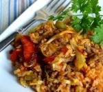 American Bloody Mary Style Cabbage Jambalaya Dinner