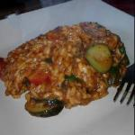 American Risotto with Tomato and Courgette Appetizer