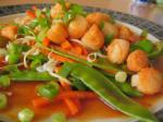 American Tangerinesesame Noodles With Scallops Dinner