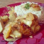 American Stirfried Chicken Pineapple Curry Sauce Coco Lactose Free Appetizer