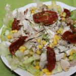 American Chicken Salad with Dried Tomatoes Appetizer