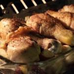 American Garlic Roasted Chicken and Potatoes Recipe Dinner