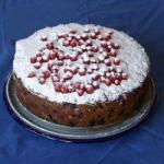 American Currant Cake Made of Fine Flour Dessert