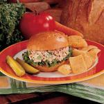 American Salmon Salad Sandwiches Appetizer
