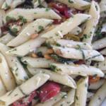 British Pasta Salad Without Mayo with Tomatoes Parsley and Parmesan Cheese Appetizer