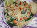 American Pasta With Lemon Spinach Parmesan and Bread Crumbs Dinner