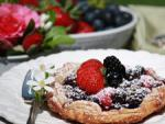 British Fresh Berry and Orange Zest Tarts Dessert