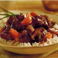 Chinese Beef with Mandarin Oranges Dinner
