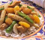 American Sweet and Sour Chicken With Pineapple and Veggies Dessert