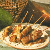 Malaysian Skewered Chicken and Pork Adobo BBQ Grill