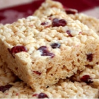 Bolivian Cranberry White Chocolate Rice Crisps Dessert