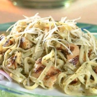 French Grilled Chicken Linguine Dinner