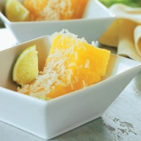 Canadian Pineapple with Coconut Lime Rum Sauce Appetizer