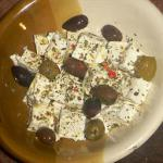 Greek Feta Cheese and Marinated Greek Olives Appetizer