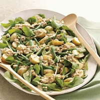 British Arugula Potato and Green Bean Salad with Walnut Dressing Appetizer