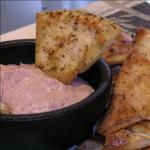 Italian Spicy Red Bean Dip with Baked Pita Wedges Dinner