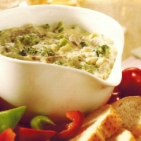 British Hot Broccoli Cheese Dip Appetizer