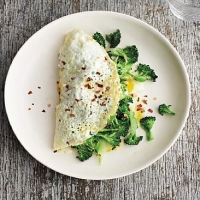New Zealand Broccoli-and-cheese Over-easy Omelet Appetizer