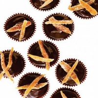 Australian Chocolate Orange Cupcakes with Candied Orange Peel Dessert