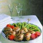 Canadian Grilled Chicken with Green Beans and Walnuts BBQ Grill