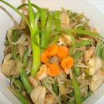 American Green Beans with Bean Sprouts and Green Onions Dinner