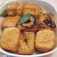 Pakistani Stuffed Tofu Dinner