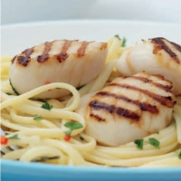 French Linguine with Scallops Dinner