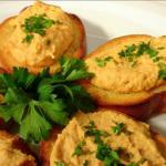 French Hummus and Crostini Appetizer