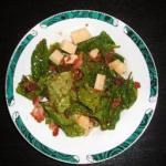 American Warm Spinach Salad with Bacon Thyme Dressing Alcohol