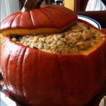 American Dinner in a Pumpkin 3 Dinner